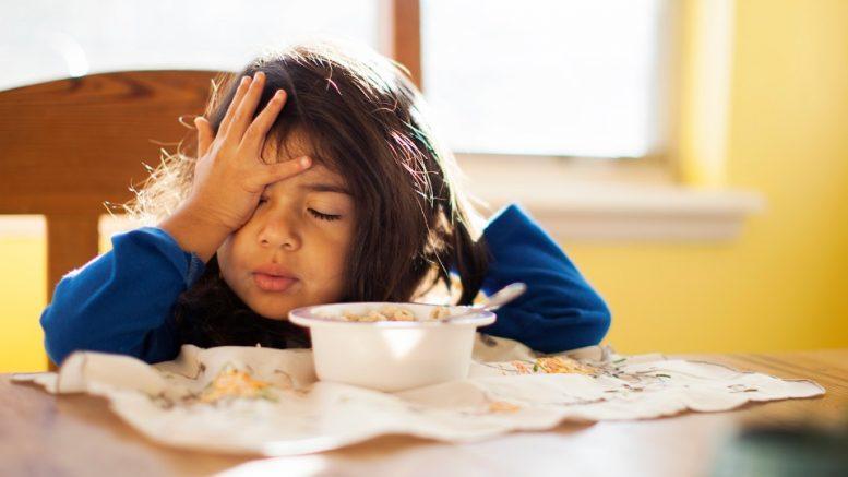 Une enfant fatiguée